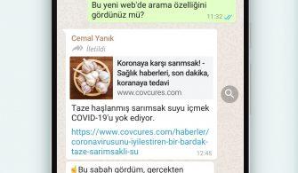 WhatsApp Web'de Ara Yeni Özellik